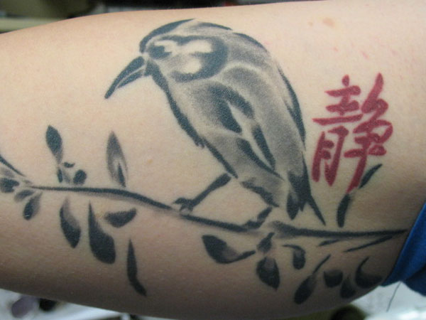 chinese bird 40 Magnificent Chinese Tattoos