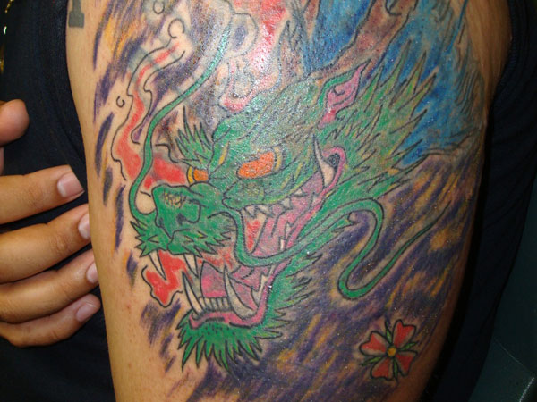 Chinese Dragon Cover Up