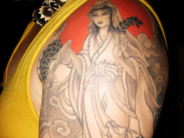 Chinese Goddess Tattoo