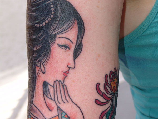 Chinese Pinup Tattoo