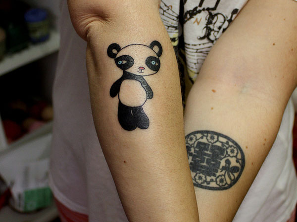 Panda Arm Tattoo
