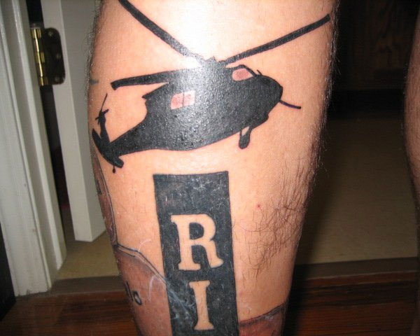 Helicopter And RIP Tattoo