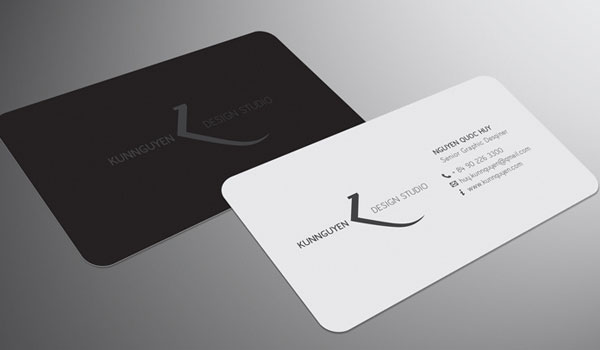 30 awesome designer business cards slodive black and white business card reheart Images