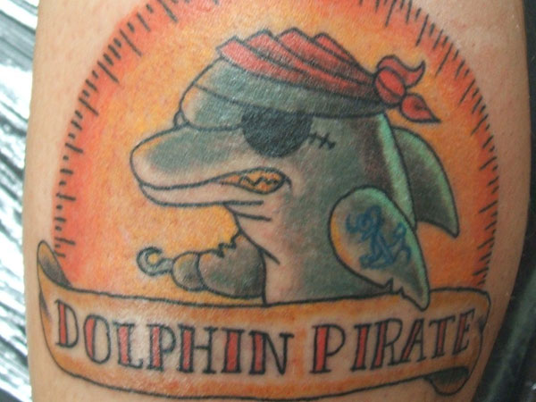 Dolphin Pirate Tattoo