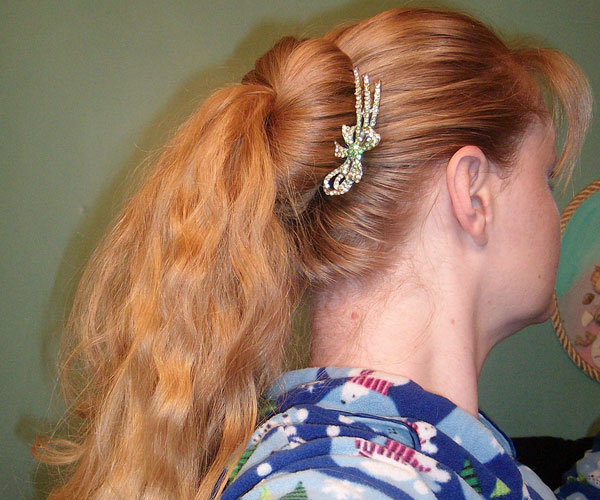 knot pony 30 Breathtaking Easy To Do Hairstyles