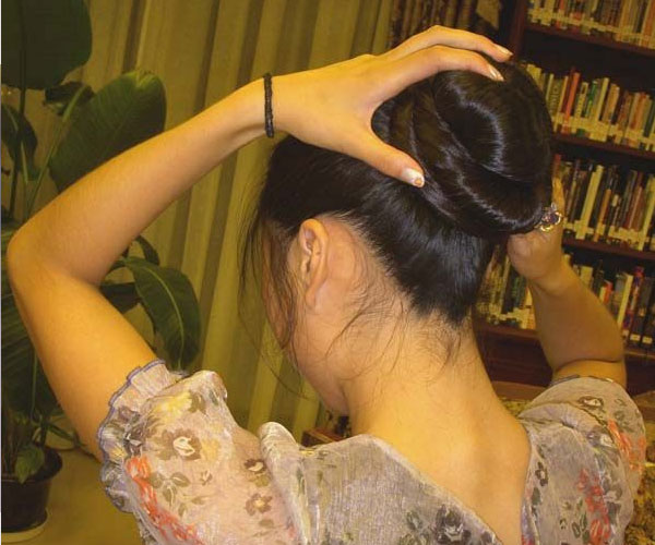 Long Hair Show Bun
