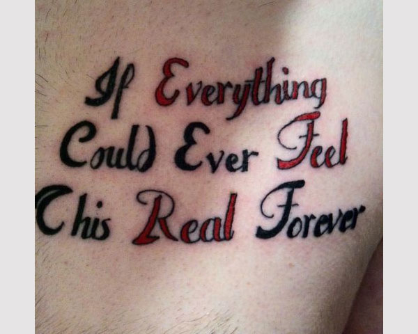 Scripted Tattoo