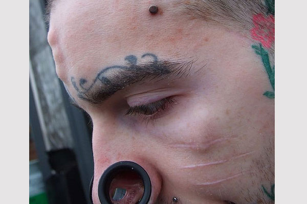 Freehand Eyebrow Tattoo