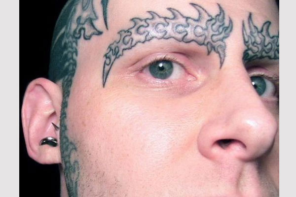 Horn Eyebrow Tattoo