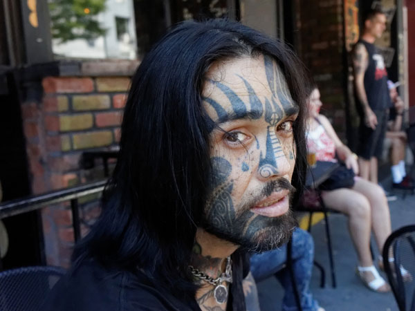 Facial Tattoo Man