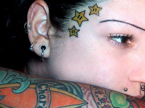 24 Star Tattoos You Need To See - Tattoo Me Now |Mario Star Tattoo