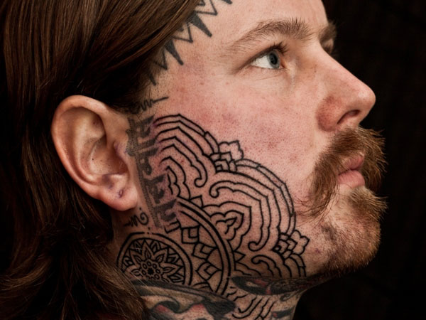 Side Face Tattoo