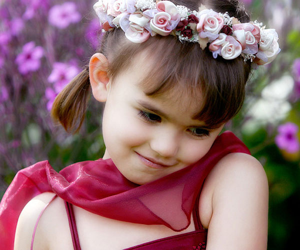 Pleasing 35 Astounding Flower Girl Hairstyles Slodive Hairstyle Inspiration Daily Dogsangcom