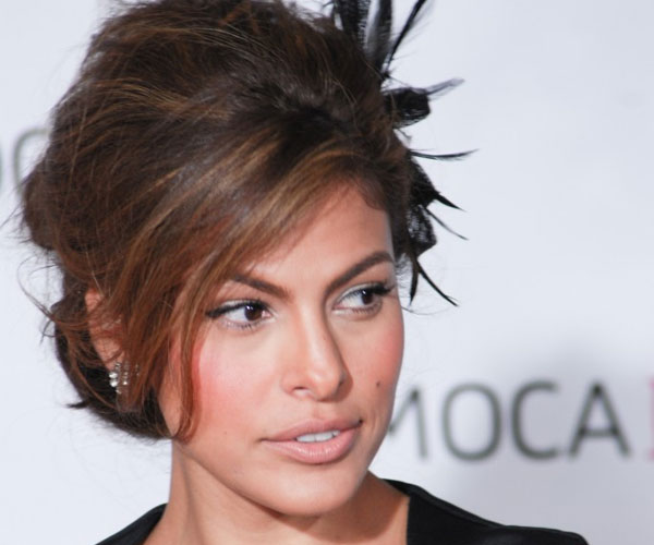 eva mendes 30 Mind Blowing French Twist Hairstyle