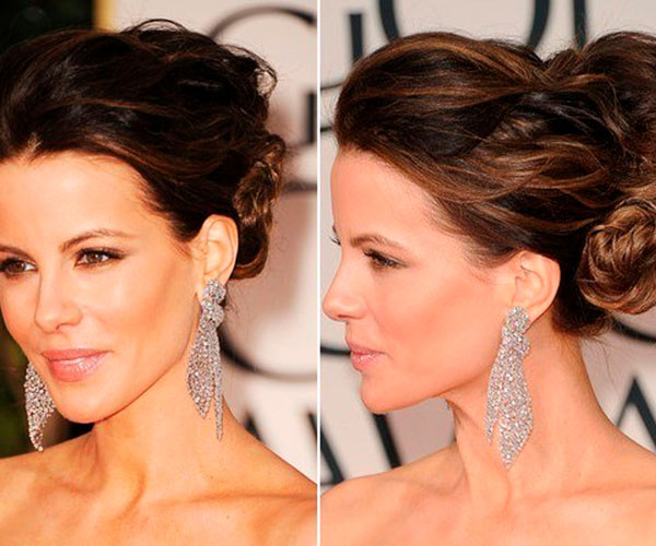kate beckinsale 30 Mind Blowing French Twist Hairstyle