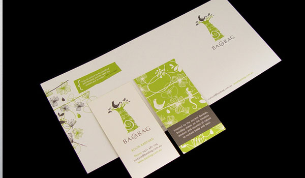 baobag brand identity 30 Fresh Business Cards For Your Inspiration