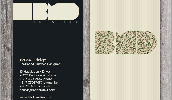 bhd design business card 30 Fresh Business Cards For Your Inspiration