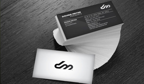 dougie meyer 30 Fresh Business Cards For Your Inspiration