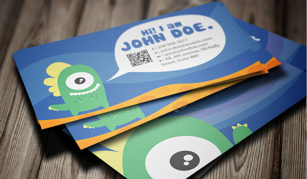 graphic monster business card design 30 Fresh Business Cards For Your Inspiration
