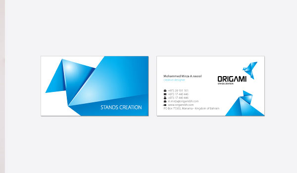 origami 30 Fresh Business Cards For Your Inspiration