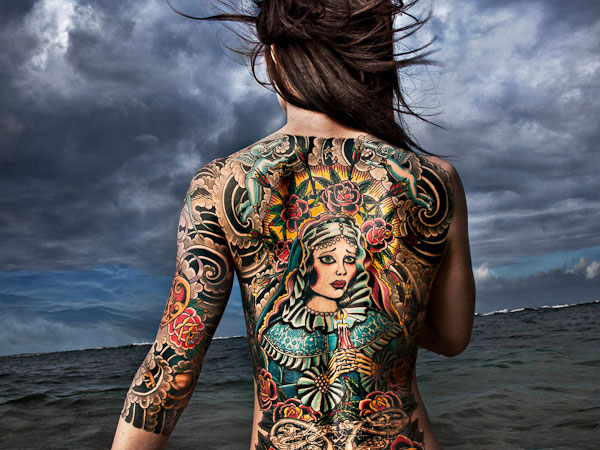 mary 30 Unbelievable Full Body Tattoos