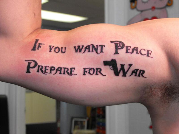 peace quote 30 Good Tattoo Quotes You Will Love To Engrave