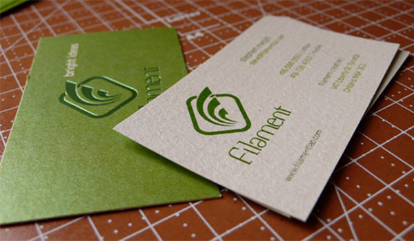 filament creative 30 Lovely Green Business Cards