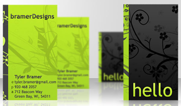 freelance card 30 Lovely Green Business Cards