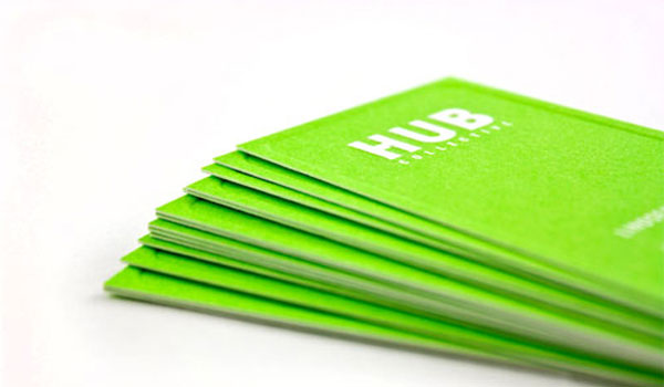 hub collective 30 Lovely Green Business Cards