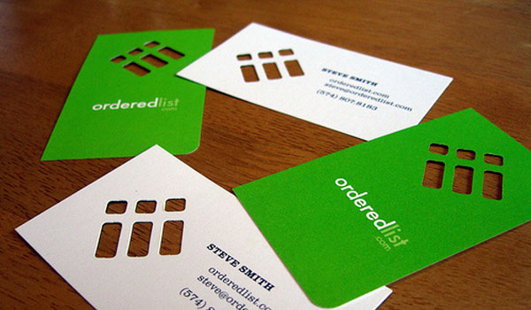 ordered list 30 Lovely Green Business Cards
