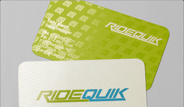 ridequik 30 Lovely Green Business Cards
