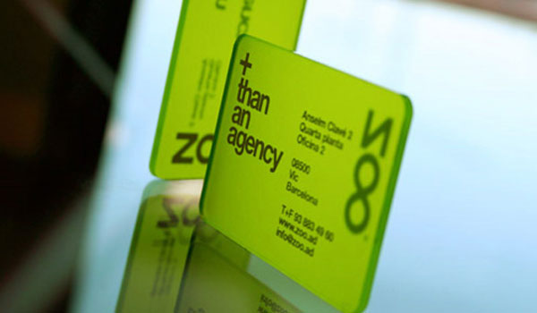 zoo studio 30 Lovely Green Business Cards