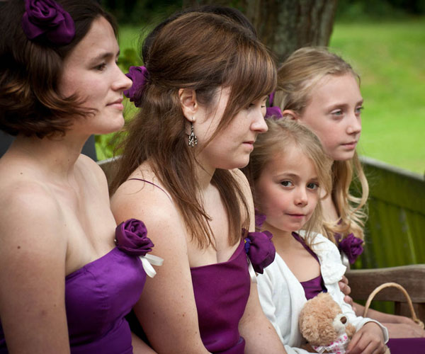 bridesmaids sitting 30 Beautiful Hairstyles For Bridesmaids
