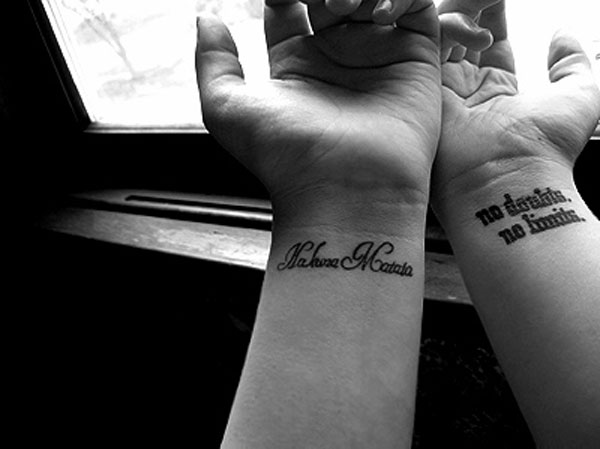 Both Wrist Tattoo