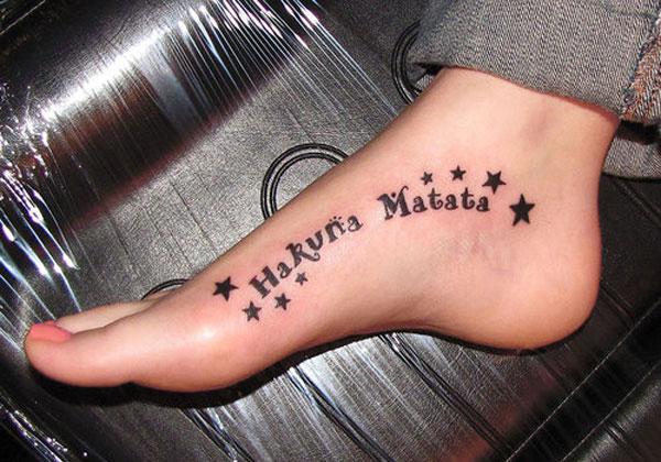 hakuna matata with star 25 Astonishing Hakuna Matata Tattoo Designs