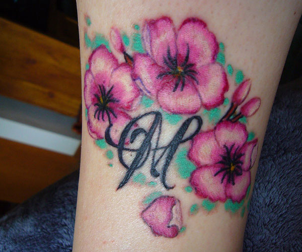 Leg Cherry Blossom Tattoo