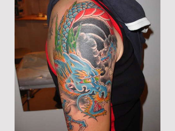 japanese dragon half s...