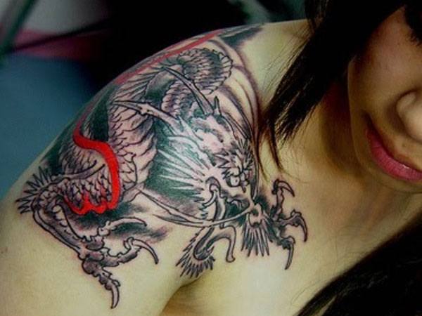 Shoulder Blade Tattoo