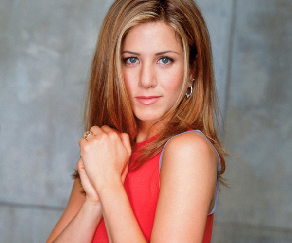 Aniston In Red Outfit