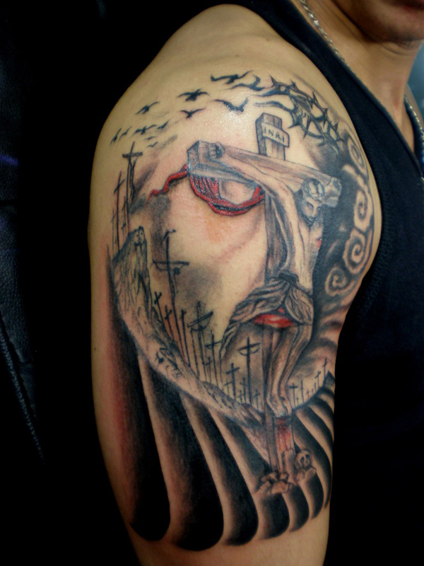 Jesus Illusion Tattoo