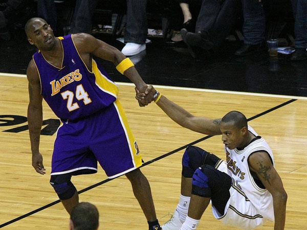 Caron Butler and Kobe Bryant