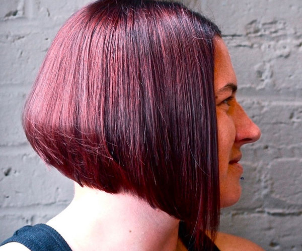 the graduated bob cut looks fantastic with its shorter look at back ...