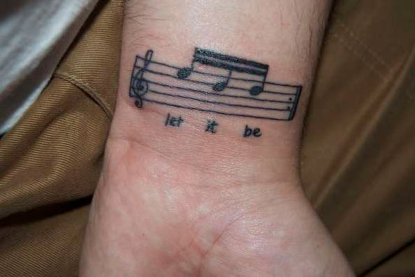 let it be 25 Fascinating Let It Be Tattoo Designs