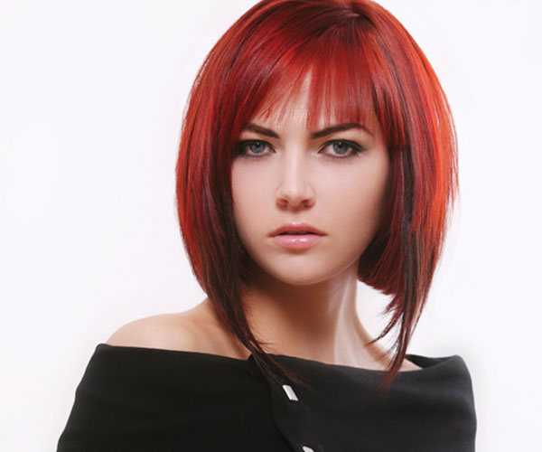 red medium bob 30 Impressive Medium Bob Hairstyles