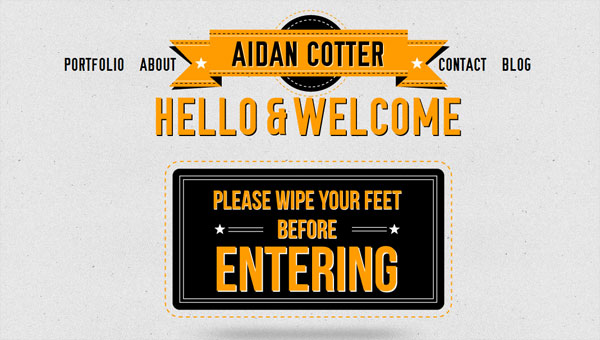 aidancotter 35 Amazing Minimalist Website Layouts