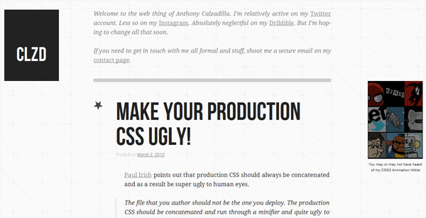 anthonycalzadilla 35 Amazing Minimalist Website Layouts