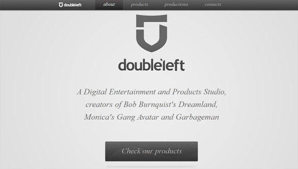 doubleleft 35 Amazing Minimalist Website Layouts