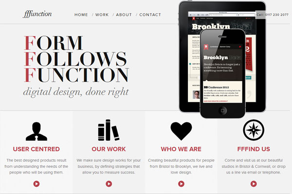 fffunction 35 Amazing Minimalist Website Layouts