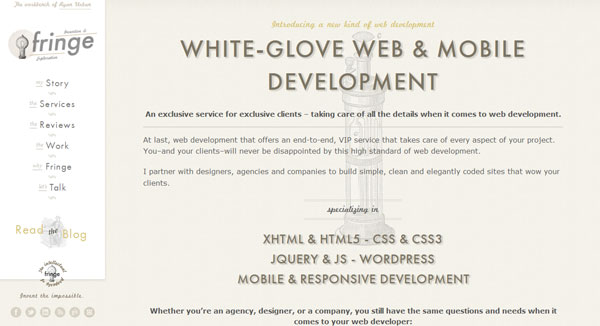 fringewebdevelopment 35 Amazing Minimalist Website Layouts