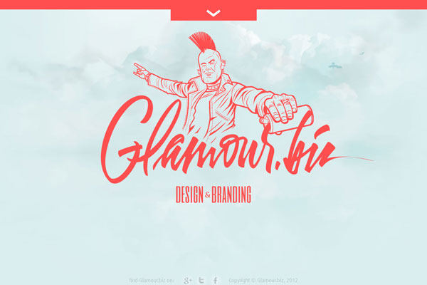 glamour 35 Amazing Minimalist Website Layouts